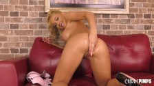 Big Tit Blonde Honey Blossom Uses A Buttplug In Her Ass And Fucks A Dildo