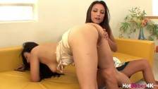 Busty Sophia Jade bent over for fingering by lesbian Celeste