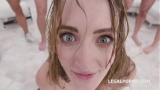 7on1 submissive DAP Gangbang with Zoe Sparks, Balls Deep Anal, DAP, Gapes, Swallow GIO1238