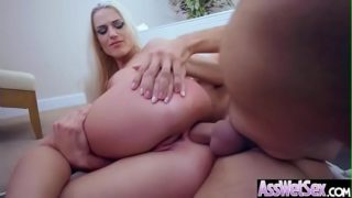 Deep Anal Hard Sex With Big Round Butt Oiled Up Girl (Blanche Bradburry) vid-08