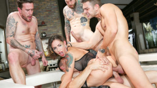 4Share 3 Cocks, 1 Slut, Double Anal Gangbang! – Malena