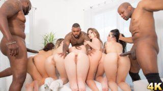4Share Interracial Orgy Buffet – Lex And Friends Order Up White Girl Anal DP Facials