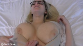 4Share Big Tits Bounce on Huge Cock Creampie – Codi Vore
