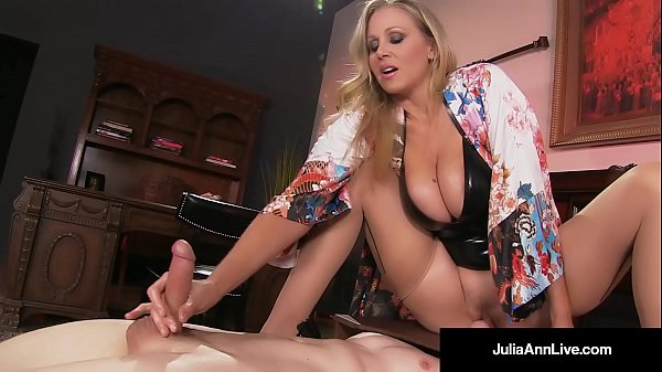 Mega Hot MILF Julia Ann Abuses Her Slave Boy!
