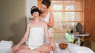 4Share Erotic blindfold lesbian massage – Jenifer Jane – Adel Morel