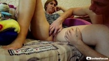 horny stepmom gets her tight pussy played deep