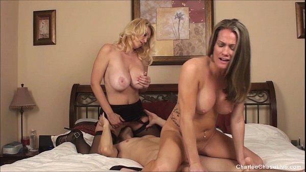 Big tit MILF Babe threeway with Charlee Chase