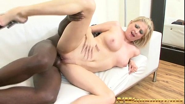 blonde milf and big black cock in her mouth and pussy