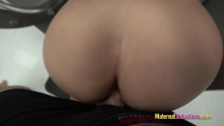 Fucking My Hot Step Mom while She is Stuck in the Dryer – Nikki Brooks