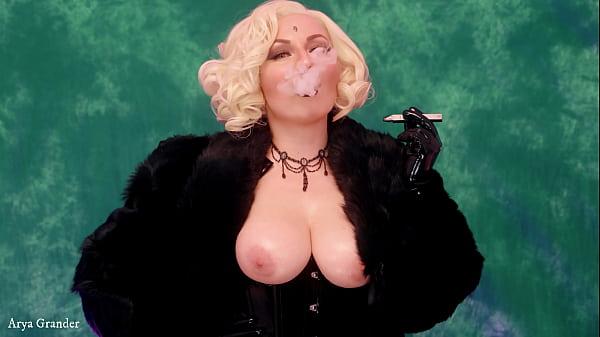 Femdom JOI in Furs Smoke POV FREE porn video