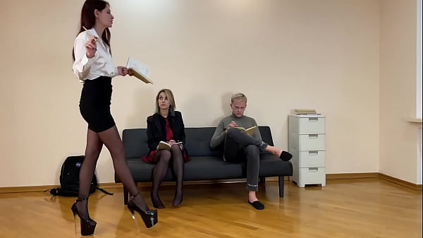 Night Teacher Sofi Educates Her Students Obedience – Lezdom and Femdom Together